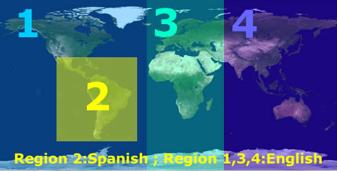 World's Regions as Used by Novatempo